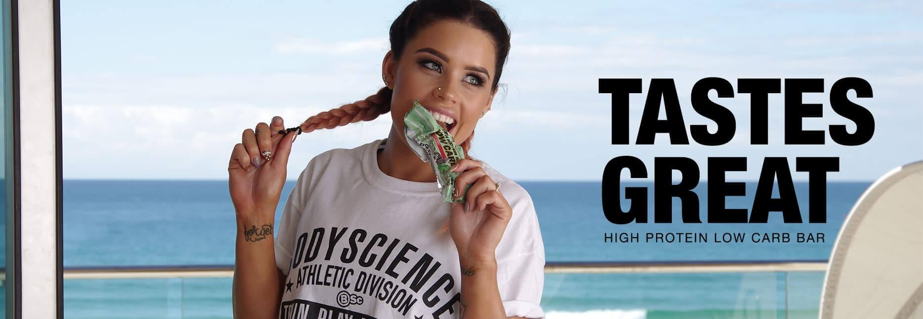 High Protein Low Carb Protein Bars By Body Science Banner