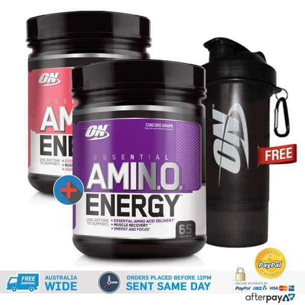 2 x AMINO ENERGY INTRA WORKOUT POWDER BY OPTIMUM NUTRITION 65 SERVE