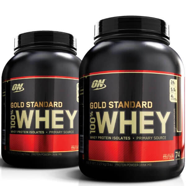 dccbabc39 Optimum Nutrition Gold Standard 100% Whey Protein Powder 5lb + Free ...