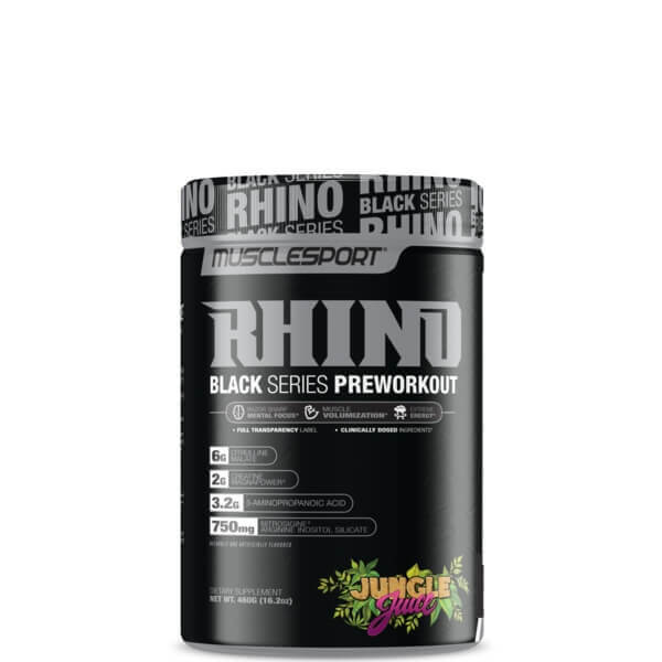 Muscle Sports Rhino Black Pre Workout Powerhouse